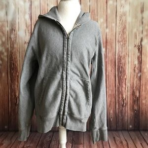 Men's J. crew zip up vintage fleece hoodie